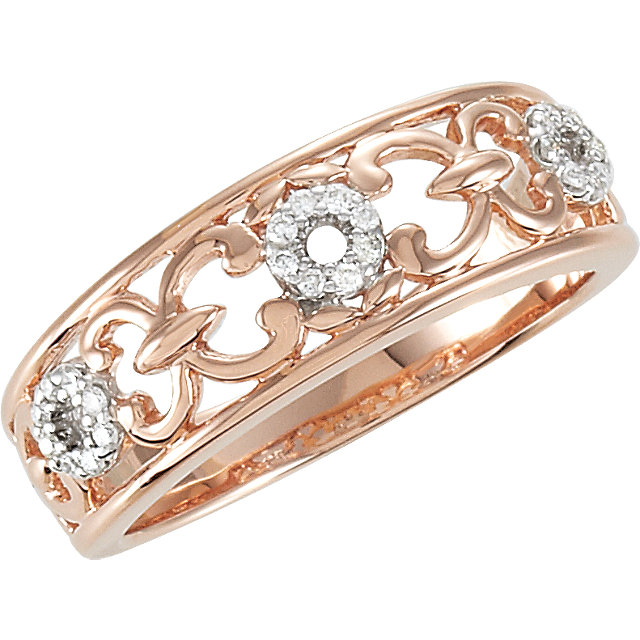 Sterling Silver 110 CTW Diamond Ring