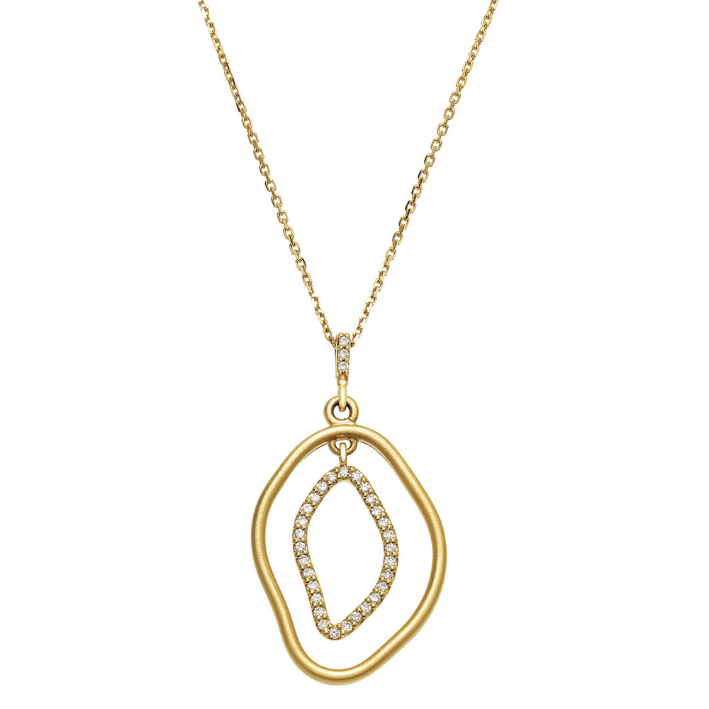 Copy of 14K Yellow Open Silhouette Pendant