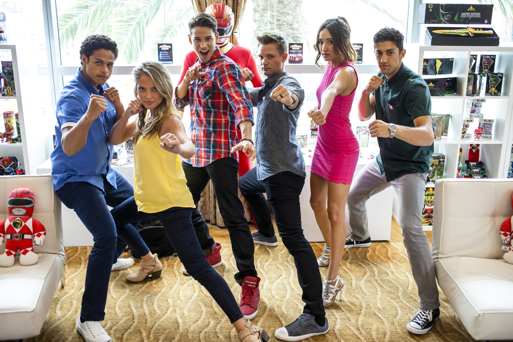 "The cast of ""The Power Rangers Megaforce""  Photo by Joel Feria"