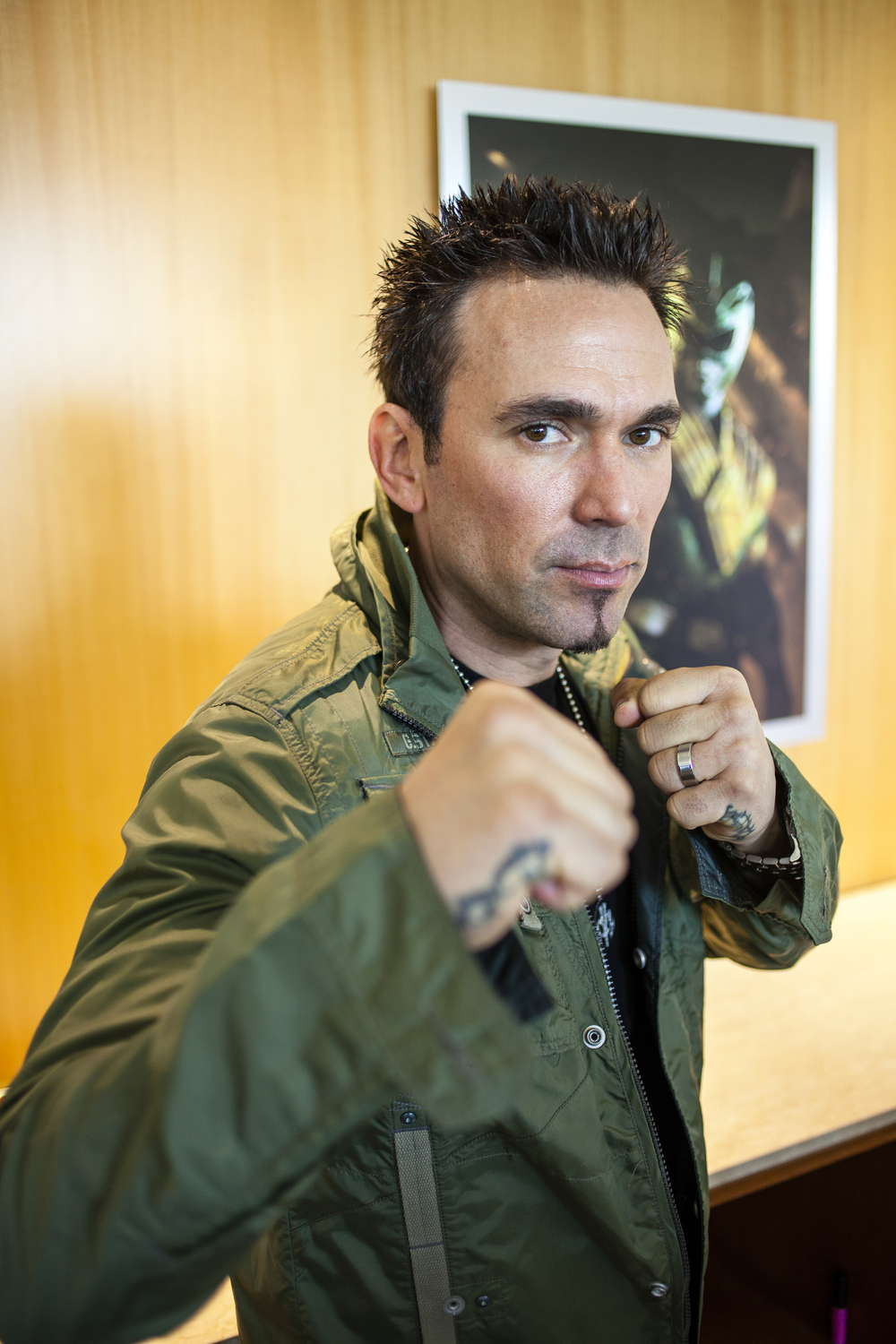 "Actor Jason David Frank of ""The Mighty Morphin' Power Rangers""  Photo by Joel Feria"