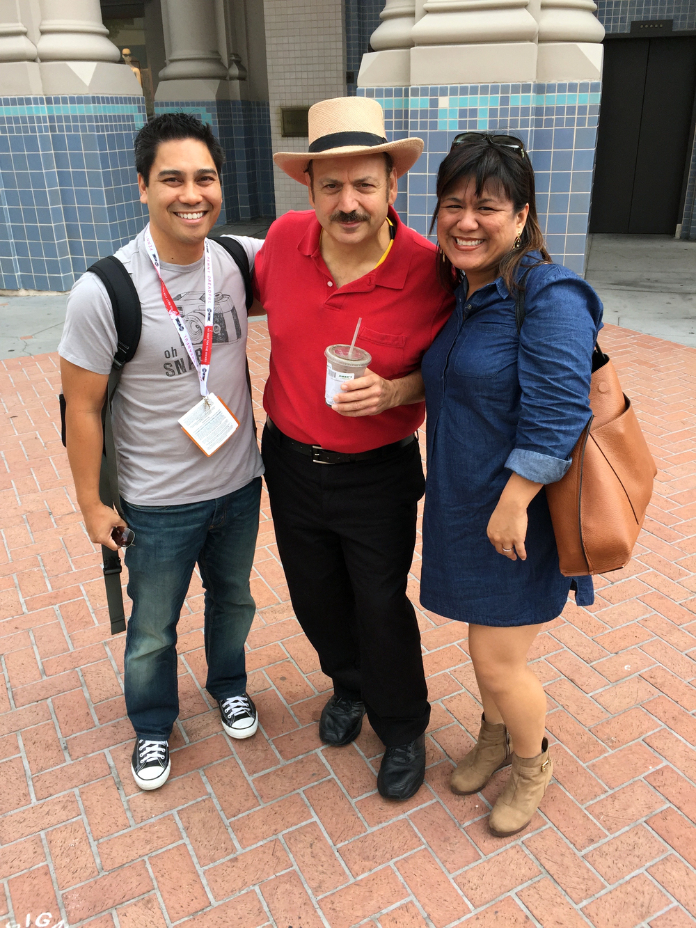 8:50am – Ran into La Bamba on our way to claim our Conan O'Brien tickets. Then we became best friends.