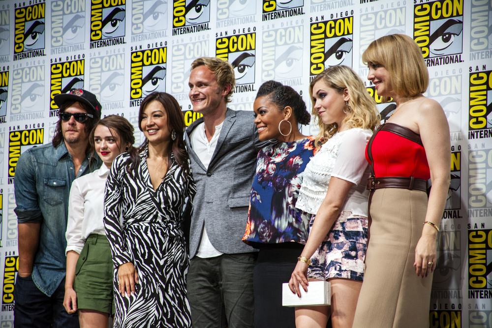 Norman Reedus, Maisie Williams, Ming Na Wen, Davis Anders, Yvette Nicole Brown, Eliza Taylor, Wendi McLendon Covey by Joel Feria HIGH.jpg