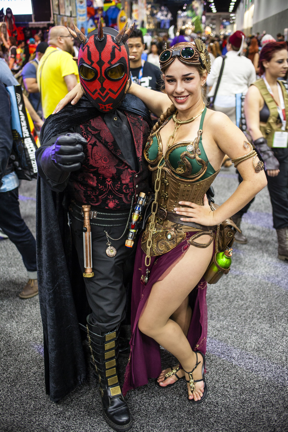 Steampunk Darth Maul and Slave Leia by Joel Feria HIGH.jpg