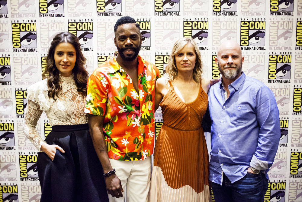 """Fear the Walking Dead"" Mercedes Mason, Colman Domingo, Kim Dickens and Dave Erickson.  Photo by Joel Feria"