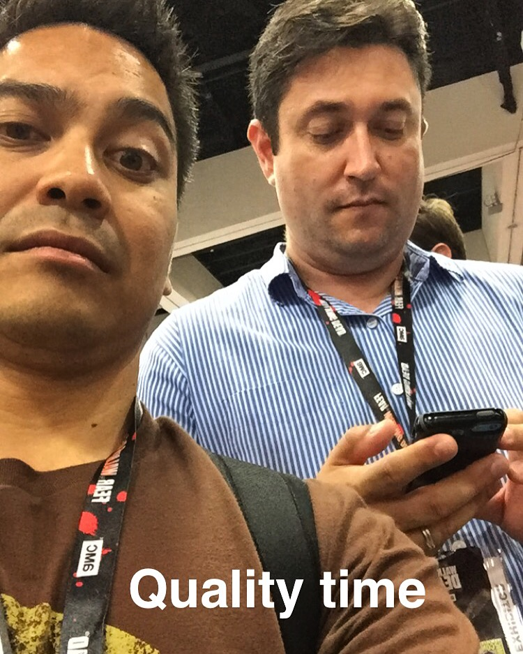 Me and Justin at last year's SDCC enjoying each others' company.