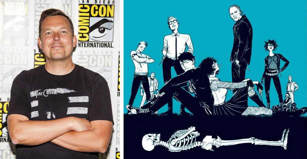 Writer Rick Remender (left) and artist Wes Craig's  Deadly Class  will be a live-action series coming to SYFY in 2019, produced by the Russo brothers (Directors of Captain America: Winter Soldier and Civil War, and Avengers: Infinity War). Photo by Joel Feria