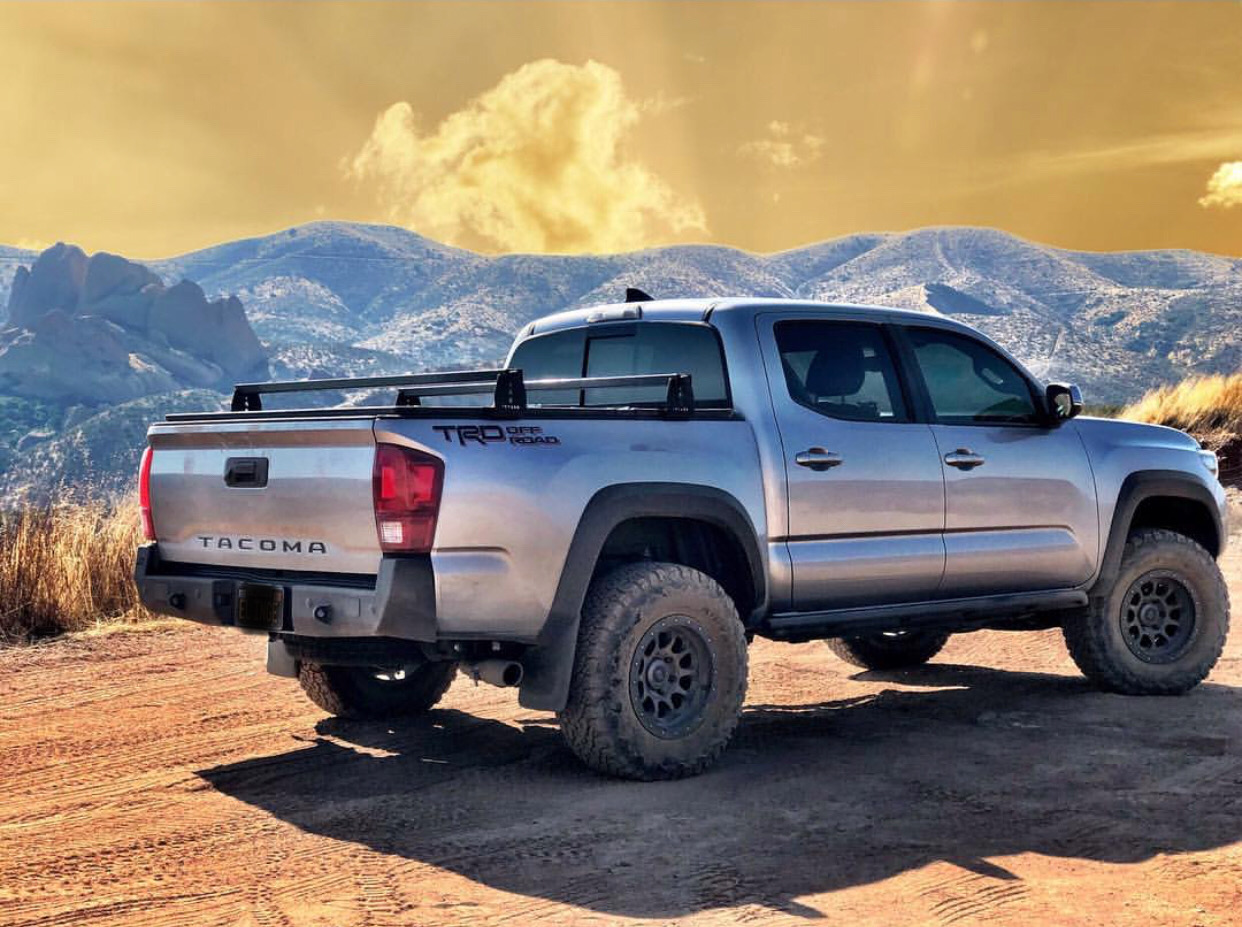 Toyota Tacoma Hi Rise Crossbars For Use With Tonneau Covers Kb Voodoo Fabrications