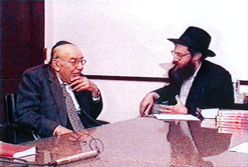 Prof. Silman (right) and Prof. Radkowsky (left) in 1994