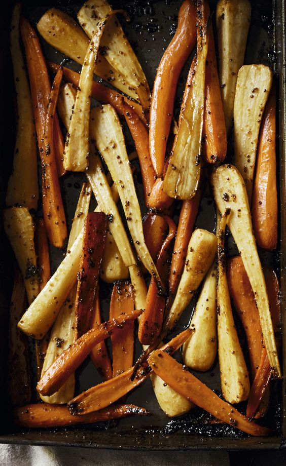 Maple Roasted Parsnips and Carrots