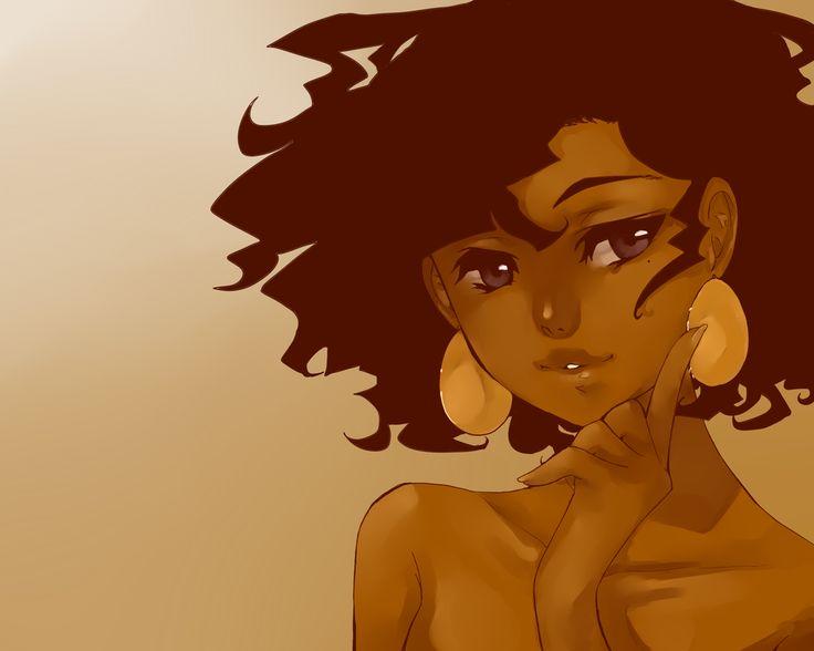 Sexy black woman cartoon