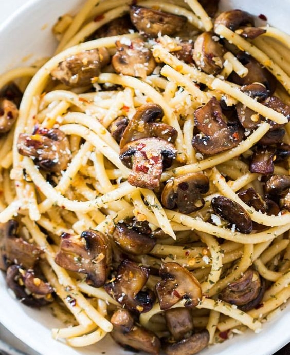 Mushroom Spaghetti Aglio Olio