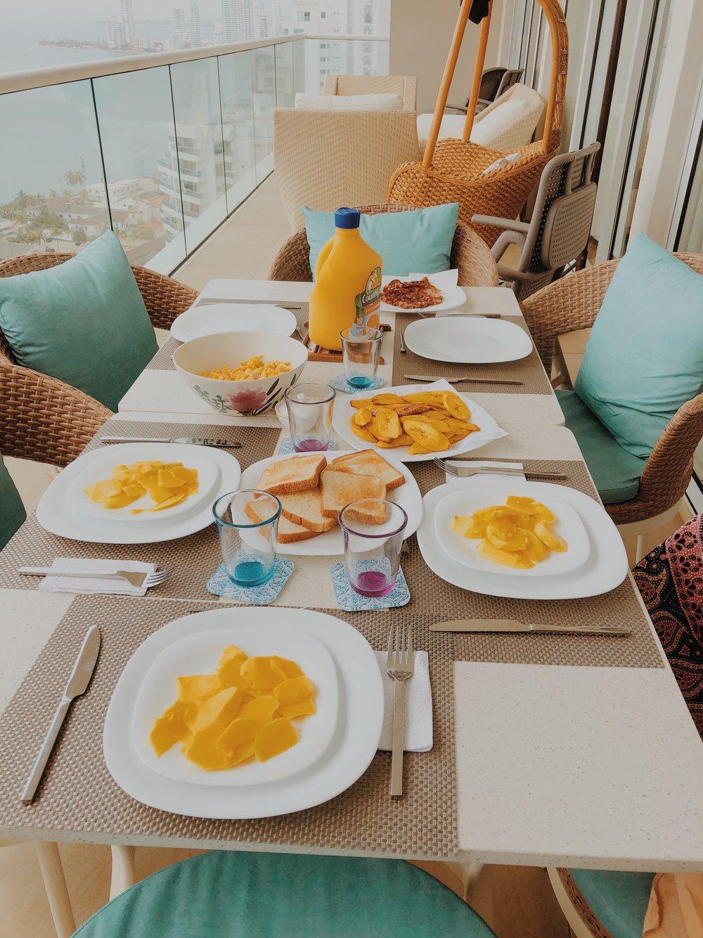 A Colombian Breakfast Aesthetic.