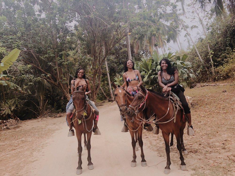 Horseback riding in Tayrona