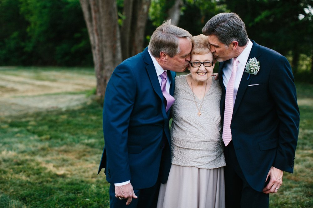grandmother at wedding