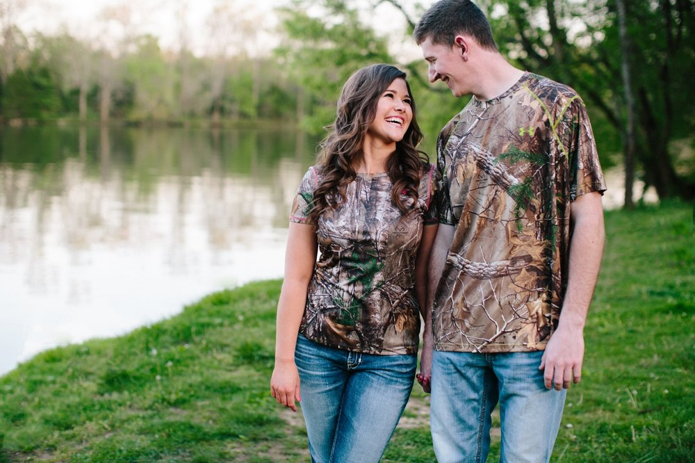 camo engagement session