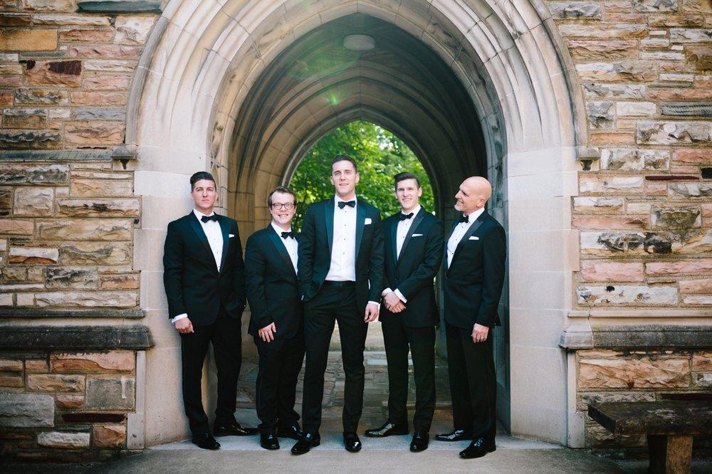 black tie groomsmen