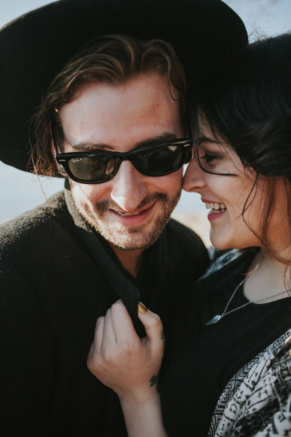 hipster couple engagement pictures