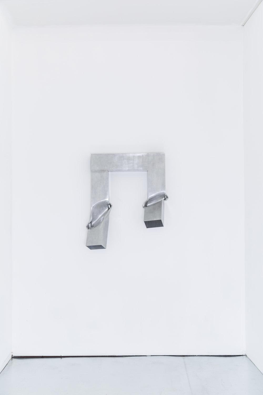Untitled , 2016, aluminum, aerosol lacquer,33 x 29 x 11 inches