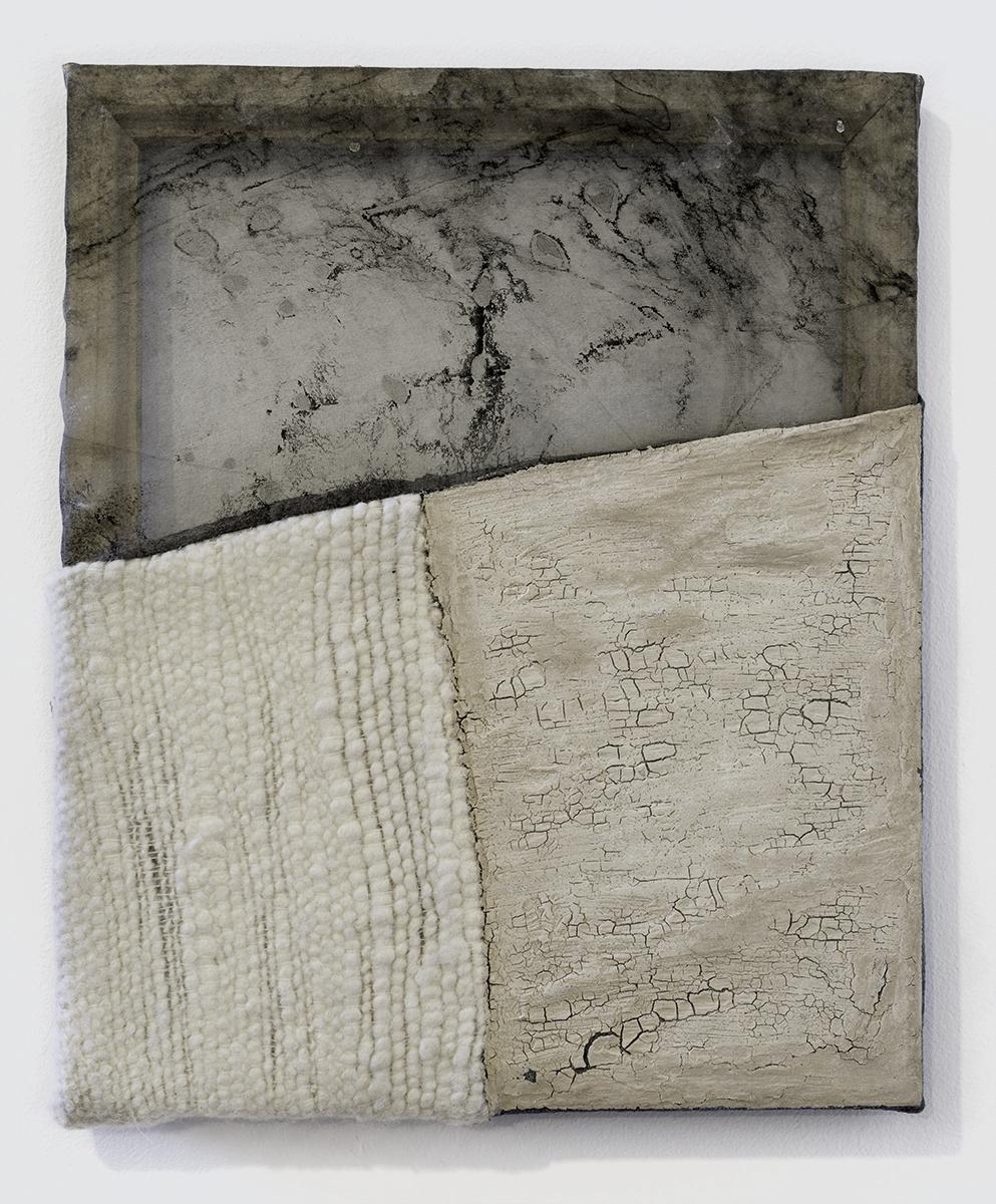 Martha Tuttle,Like water I have no skin (5),2017, wool, silk, dye, clay