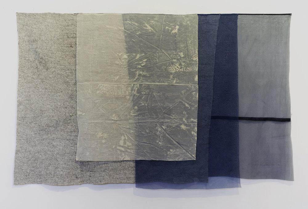 Martha Tuttle, Weather (6) , 2017, wool, silk, dye, pigment, steel