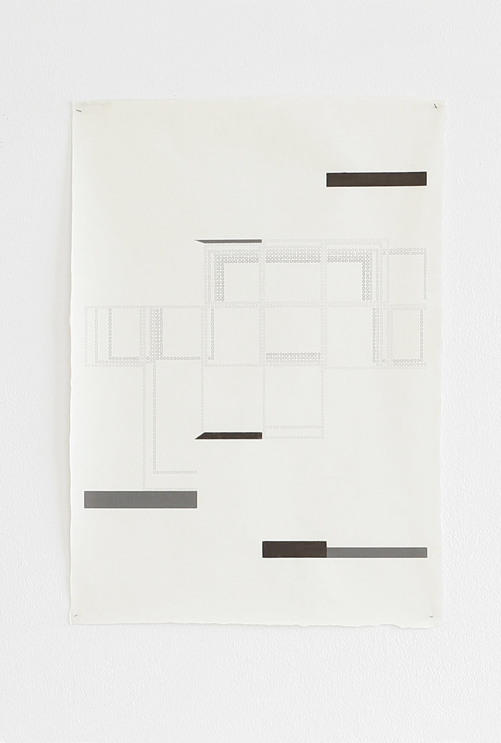 Azadeh Gholizadeh ,  Repetition Figure (1703) , 2017, graphite, print on rice paper