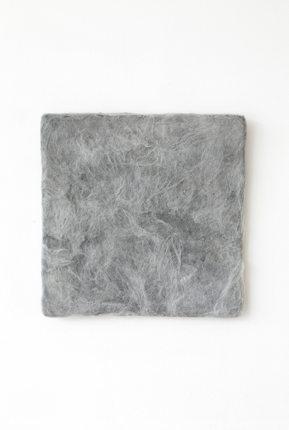 Manuela Garcia ,  Grey Felt , 2017, Wool, graphite and wood