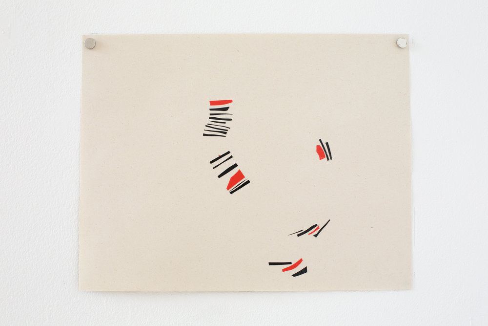 Manuela Garcia ,  Rhythm 3 , 2017, tape on paper