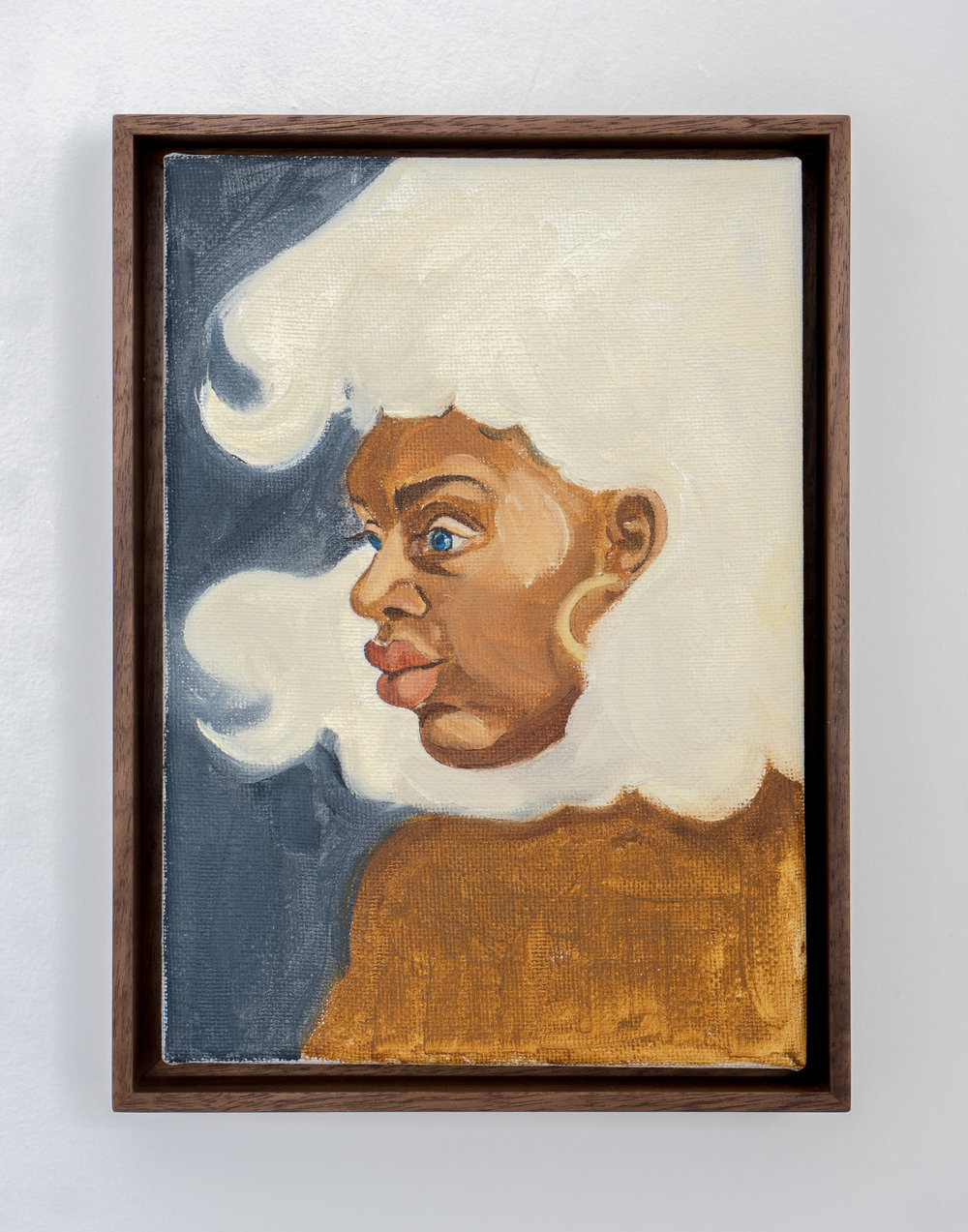 Somaya Critchlow , Toochka,  2018, oil on canvas, 9 x 7.6 inches