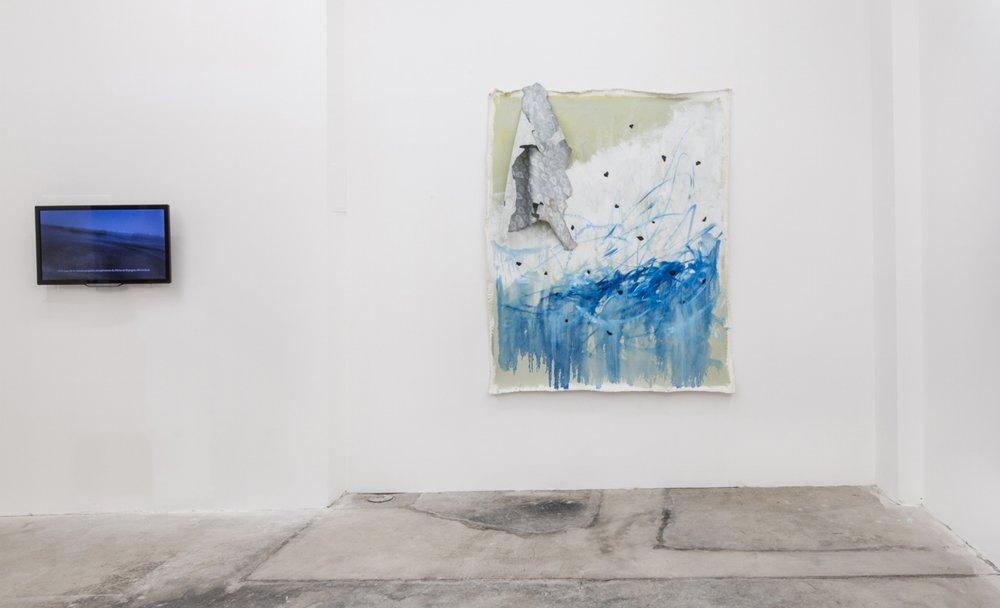 Installation view,  El lenguaje, la lengua y el esclavo congénito,  2018, Efrain Lopez Gallery, Chicago