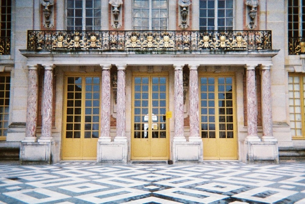 Palace of Versailles, 2014  I still use this colour palette today.