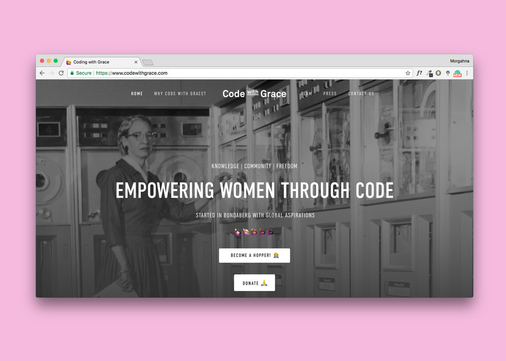 Chapter One: Code with Grace aims to Empower Women Through Code. I have teamed up with two extraordinary humans to teach women how to steer their own ship with code...  read more