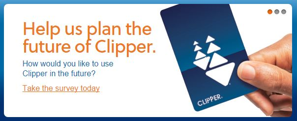 I'll help you plan the future of Clipper... Use 21st century technology, for starters!