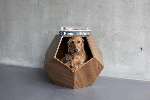 This sofa-bed is perfect for the pup who loves to stretch and lean out on the human couch. Made for medium sized dogs living in a contemporary home – the cushion is even removable for an easy wash! (Sold by – Moderno Dog Bed)