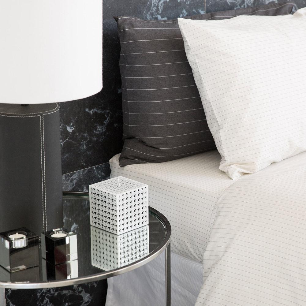 Pinstripe Bed Linen, $39.90-$159.00