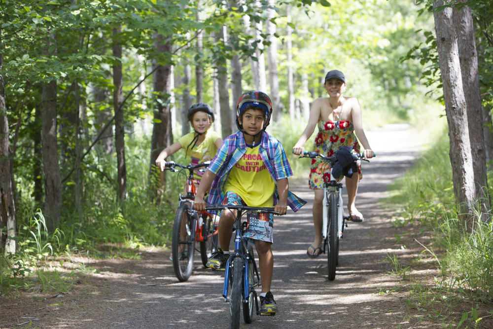 The Friends of Killbear helped to create the Killbear Recreation Trail. This trail allows visitors to bike safely through Killbear without biking on the main road.
