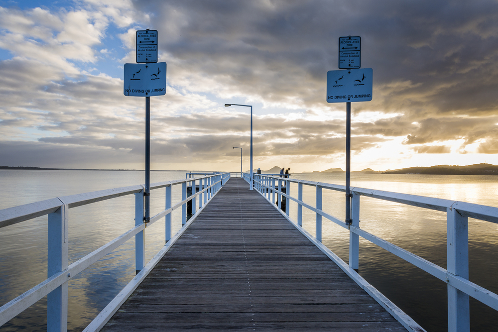 Wanda Beach Jetty at sunrise.