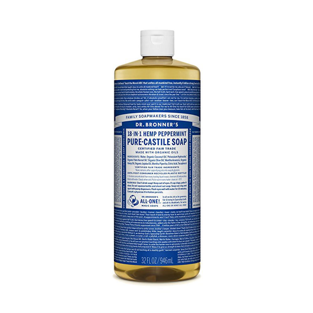 You can use Castile Soap for SO many things, I haven't even tapped into its full potential! I use it for hand-soap, dish-soap, laundry-soap, mopping [if I mopped], pet-shampoo and as a spray for my plants to keep bugs off.