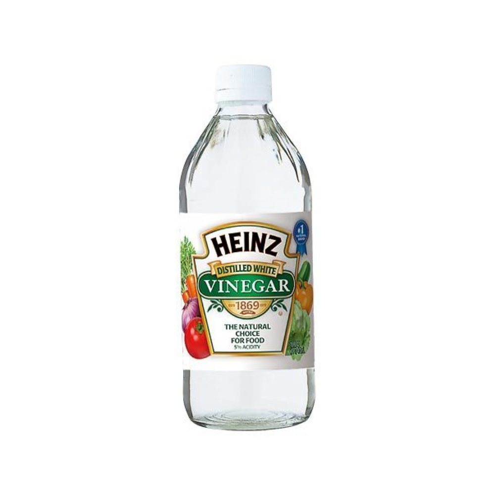 I use distilled white vinegar to clean 90% of my house and I get this one because it comes in a glass bottle that I can easily recycle. Always double check to make sure you can use it on the surfaces in your home!