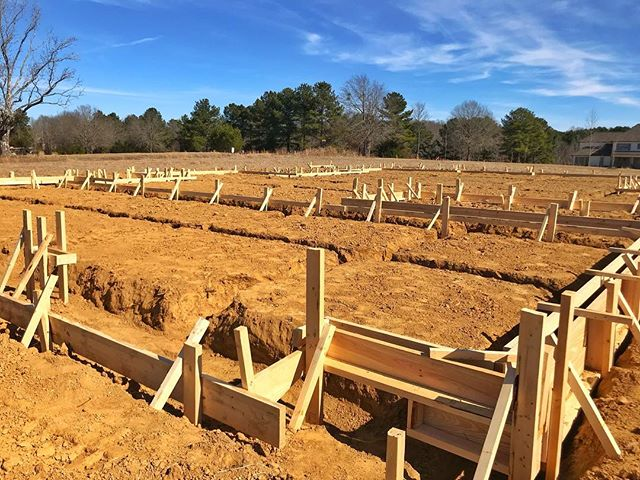 Foundation forms and trench work started for new construction in Annandale Park #construction #homebuilder #customhomes