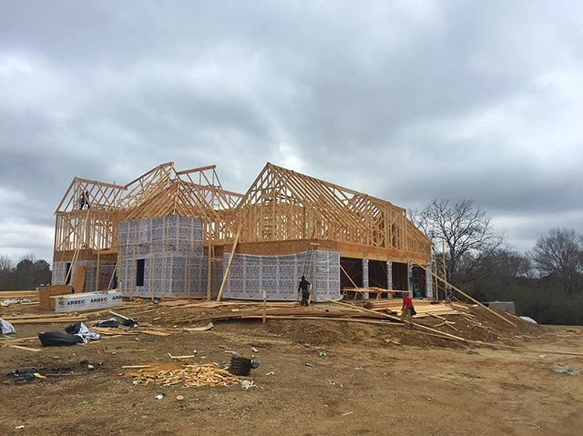 Raising the roof at Annandale Park project #construction #customhomes #design #architecture