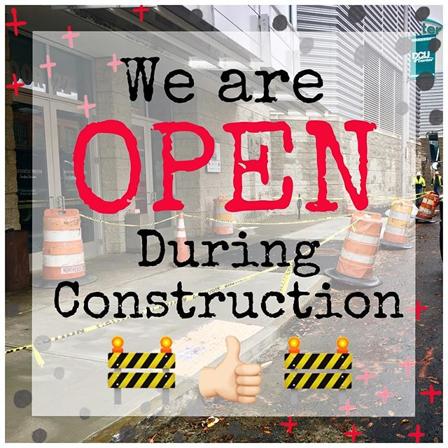 ✨OPEN 11-3 TODAY!✨ If you come see us please be careful! There is a lot of 🚧 construction 🚧going on in front of our store 🙁