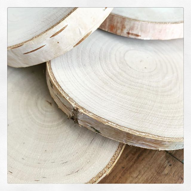 Birch ornament printing has started! Any guesses on what new design will be printed on these beautiful birch slices?! No worries -All the old favorites will be here as well!