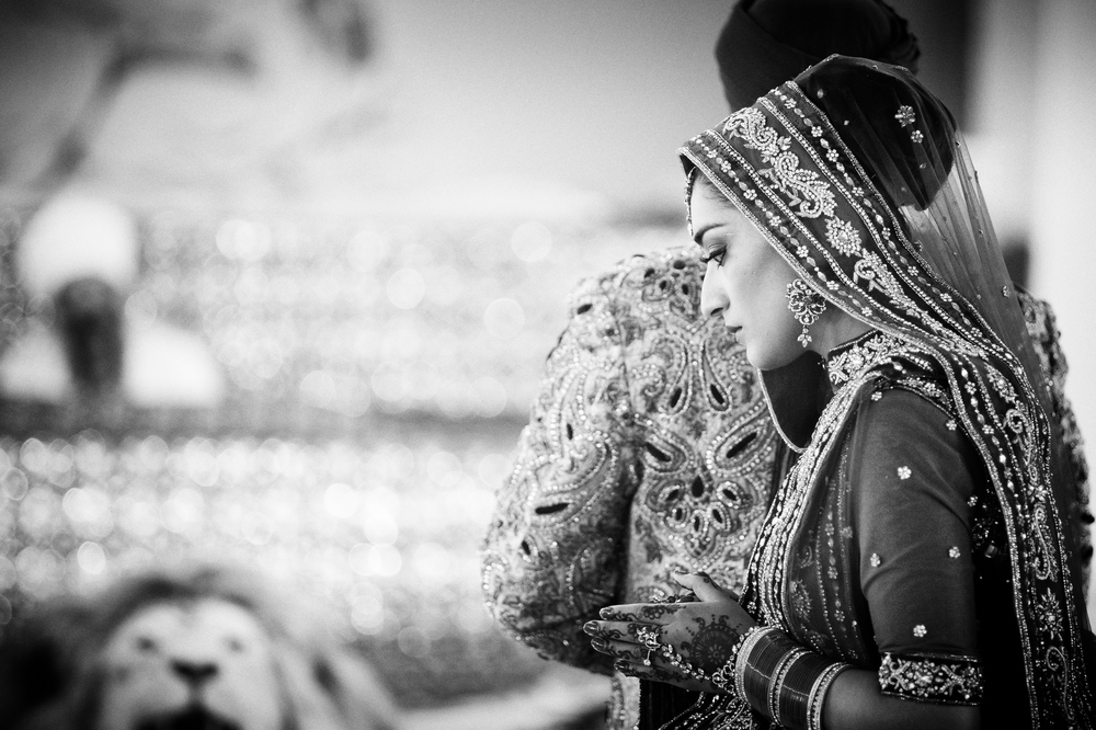 sikh bride at gurdwara - from an Indian wedding in Birmingham