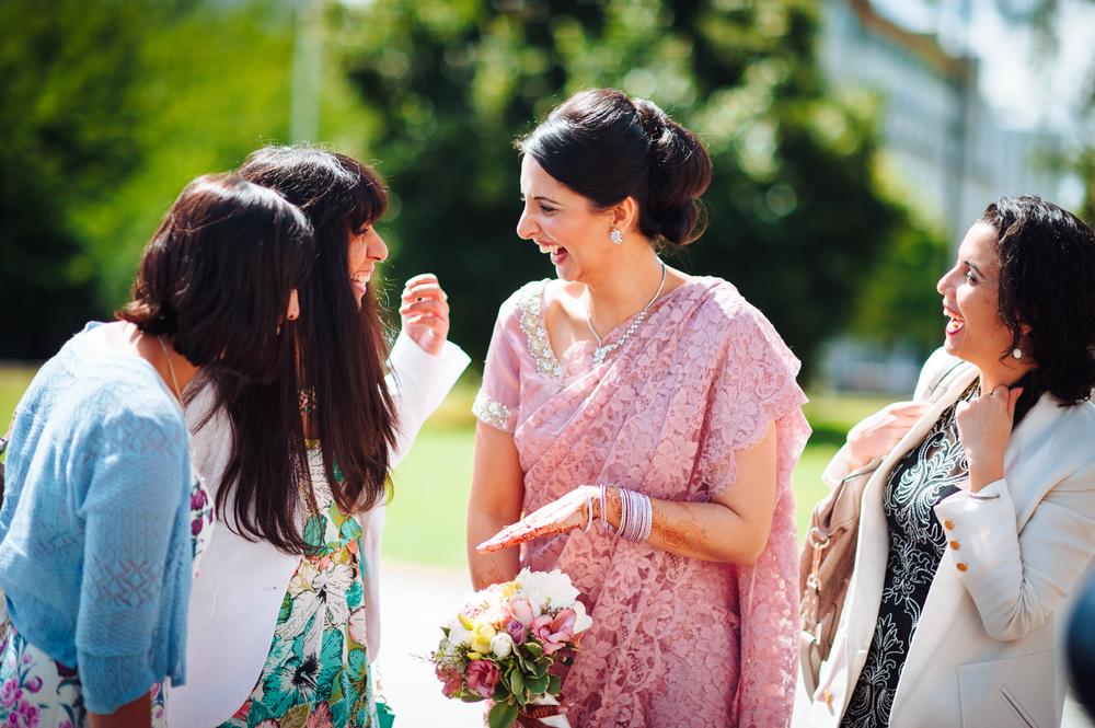 Happy Bride - Cardiff Muslim Wedding unposed photograph