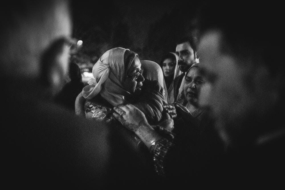 emotional goodbye - Photograph from a Muslim wedding