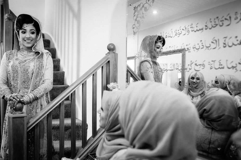 Beautiful Muslim Bride before the wedding ceremony