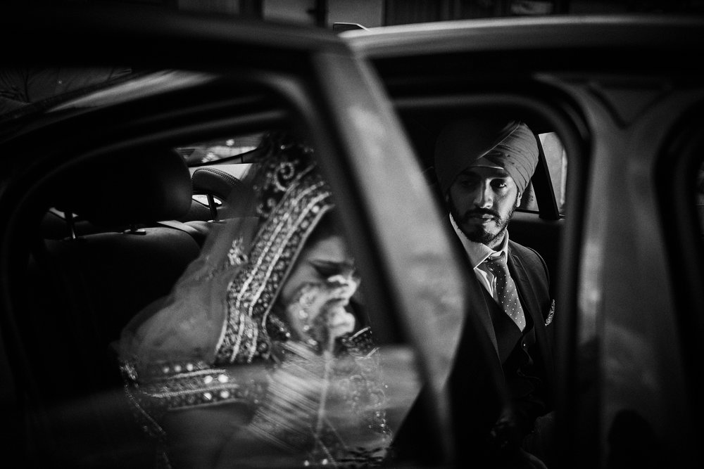 Doli. An emotional part of a Sikh wedding - Crying Bride leaves her parents home