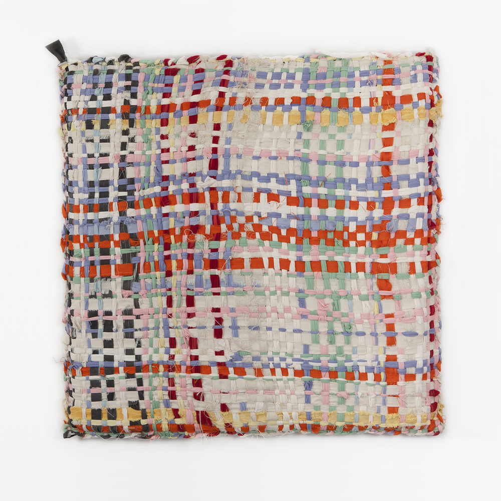 Large pot holder weaving.