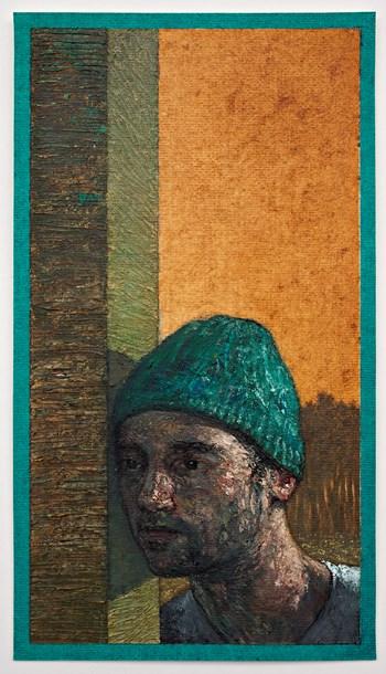 "Irishman  8"" x 4"", oil on paper, 2014"