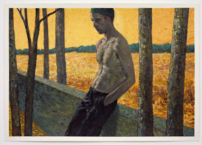 "Woodsman 14  8"" x 12"", oil on paper, 2014"